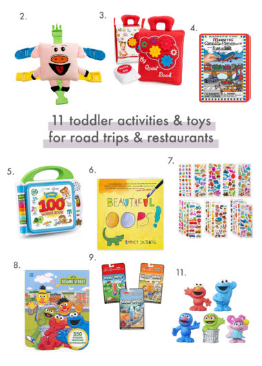 11 toddler activities and toys for road trips and restaurants