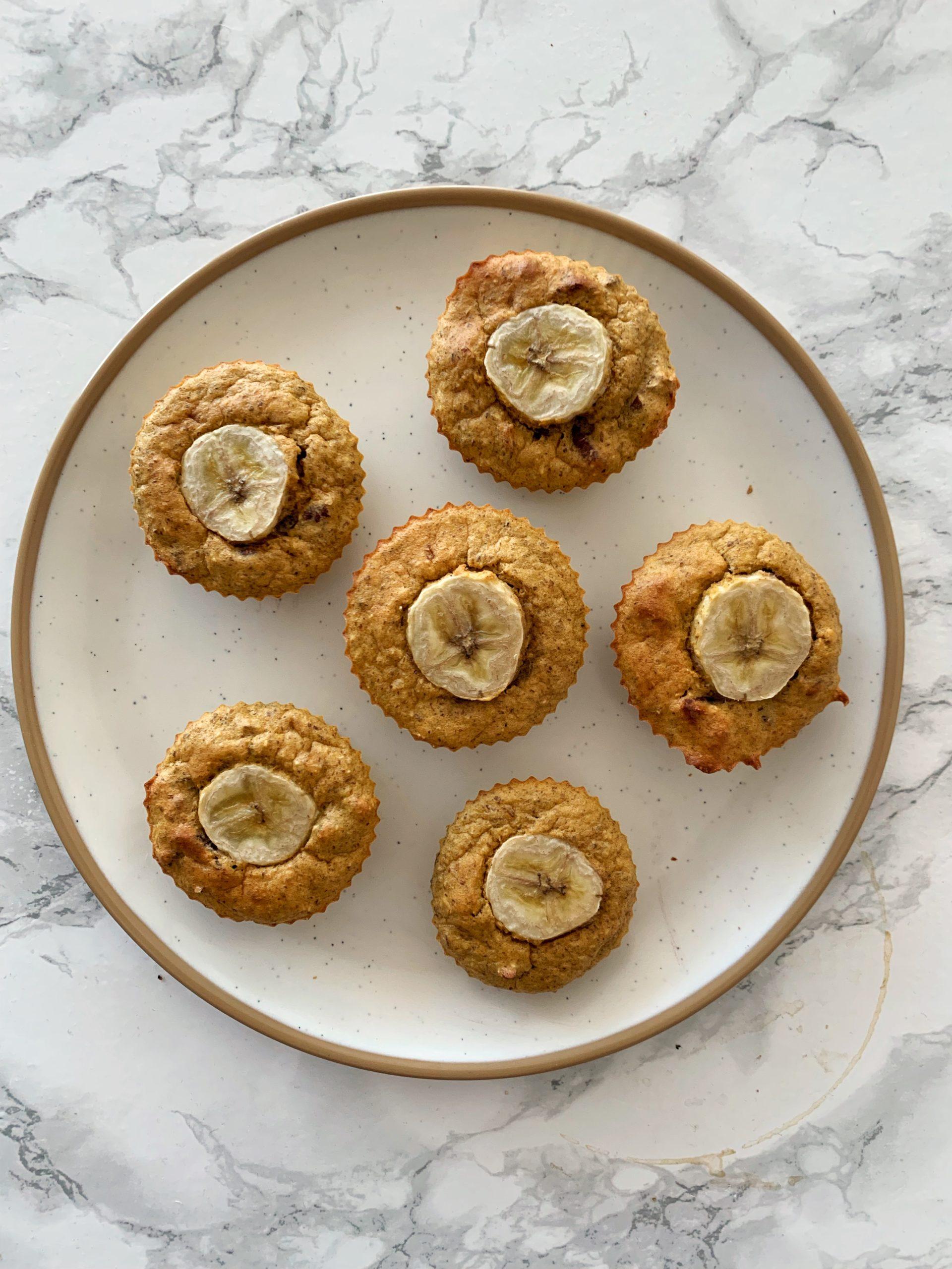 Blender Banana Nut Muffins