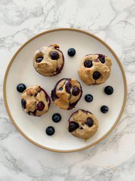 Blender Blueberry Muffins
