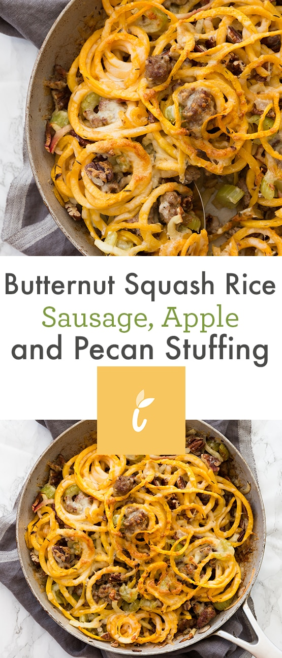 Butternut Squash Rice Sausage, Apple and Pecan Stuffing
