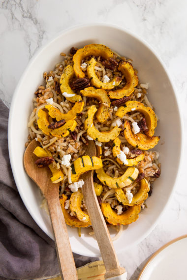 Pear and Farro Salad with Roasted Delicata Squash