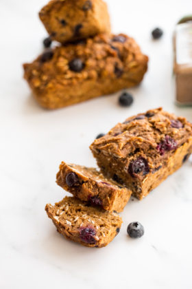 Vegan Sweet Potato Blueberry Loaves