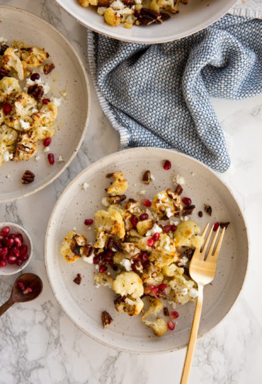 Winter Roasted Cauliflower with Goat Cheese