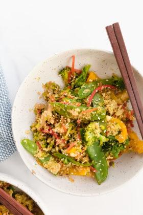 Easy Vegetable Stir fry with Quinoa