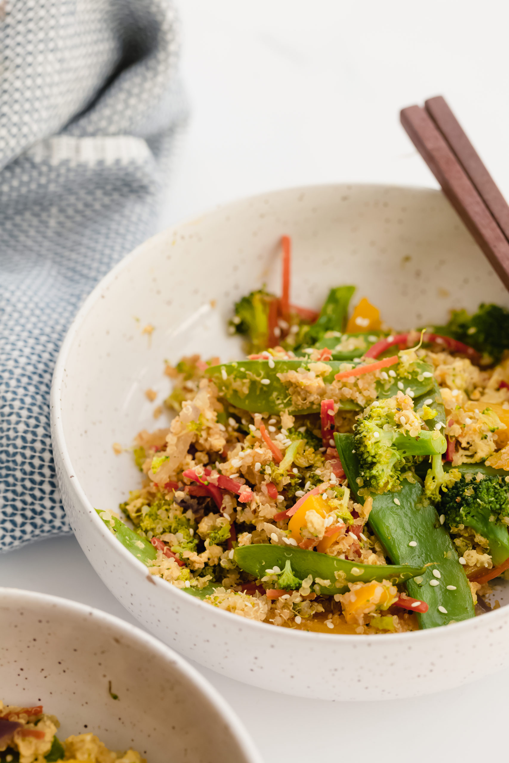 Easy Vegetable Stirfry with Quinoa