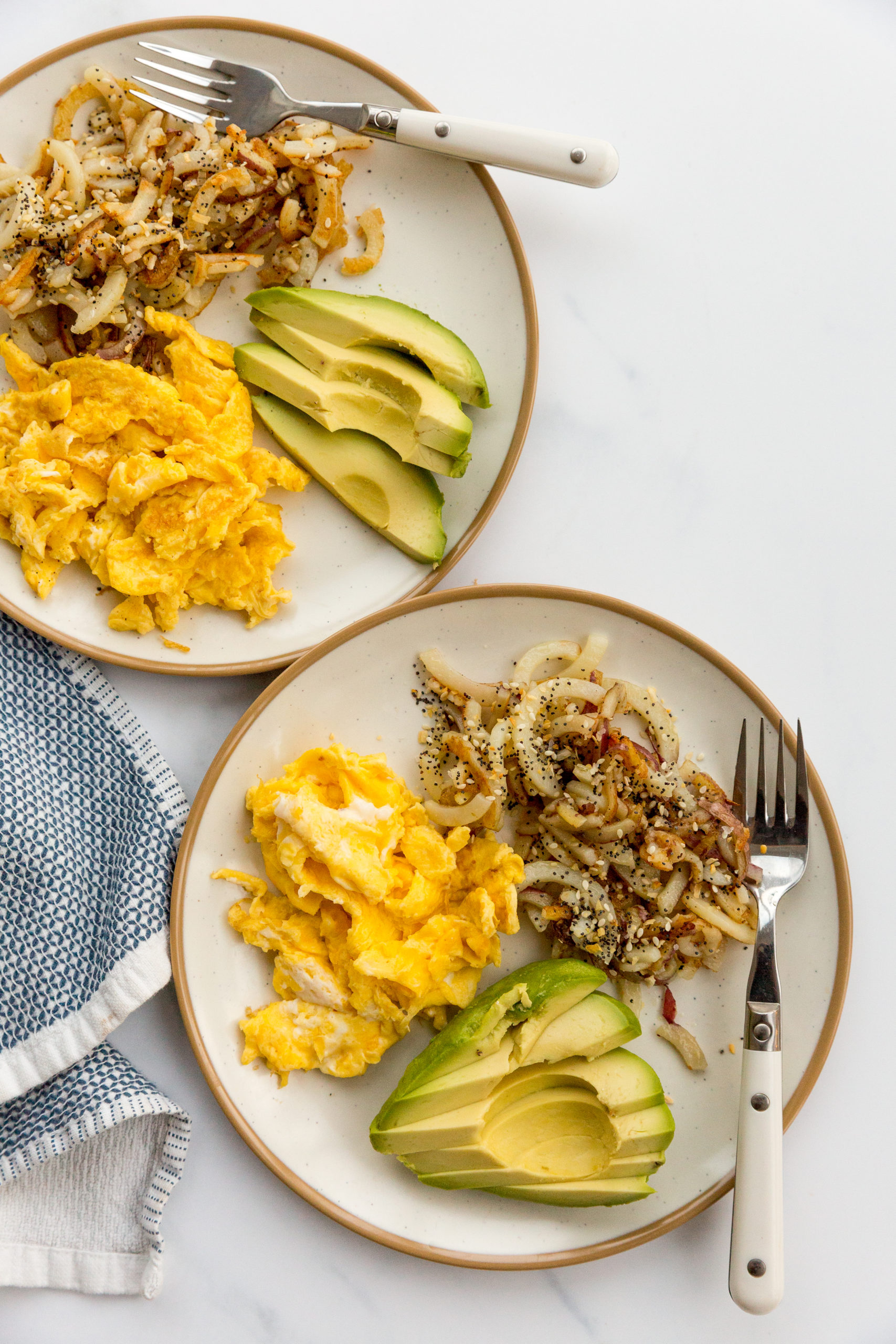 Everything Bagel Potatoes with Eggs and Avocado