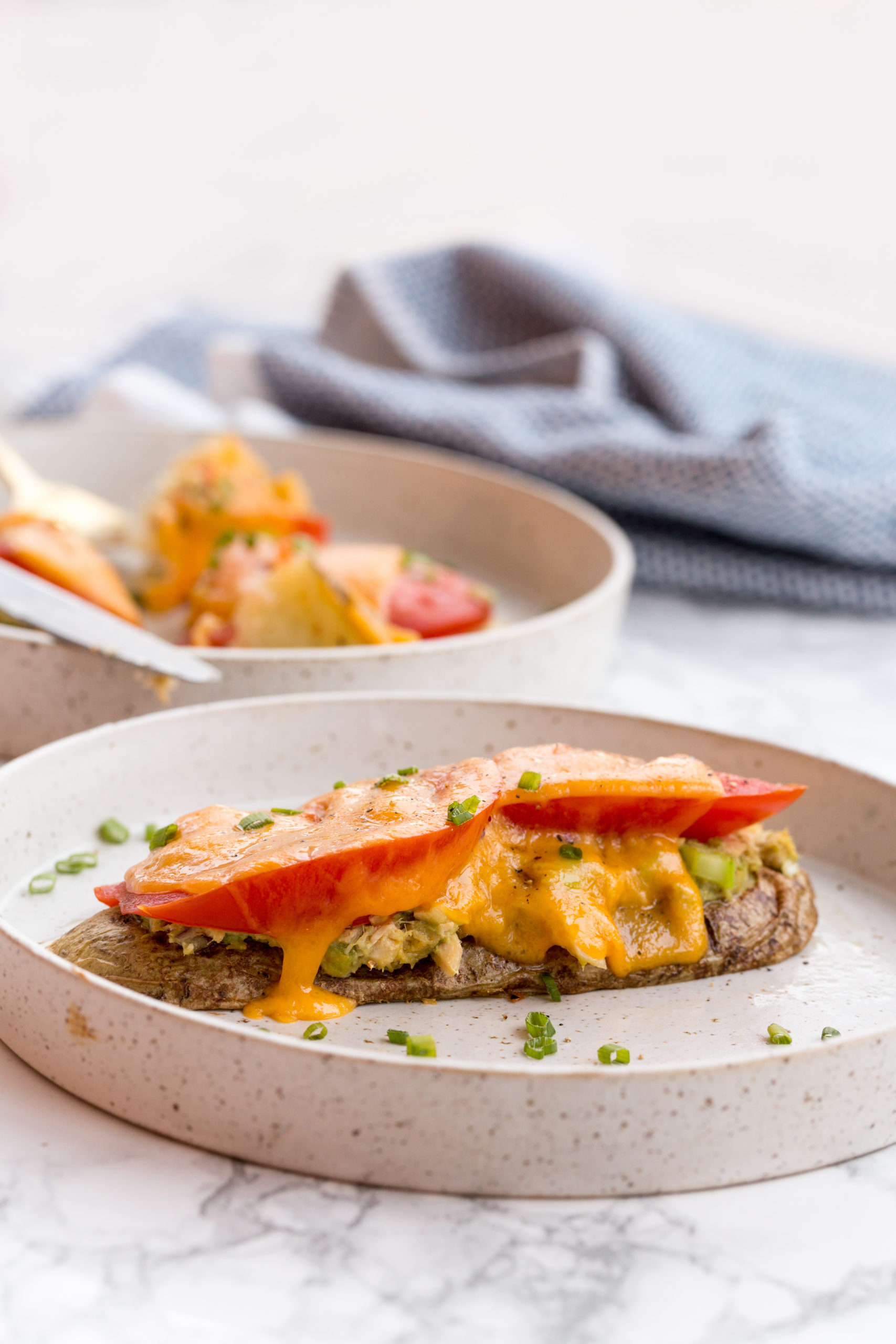Potato Tuna Melts with Tomato
