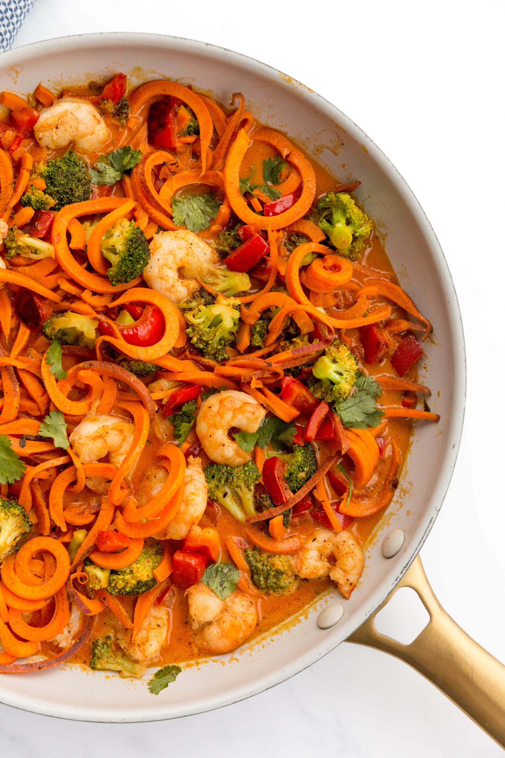 Red Curry Shrimp with Sweet Potato Noodles