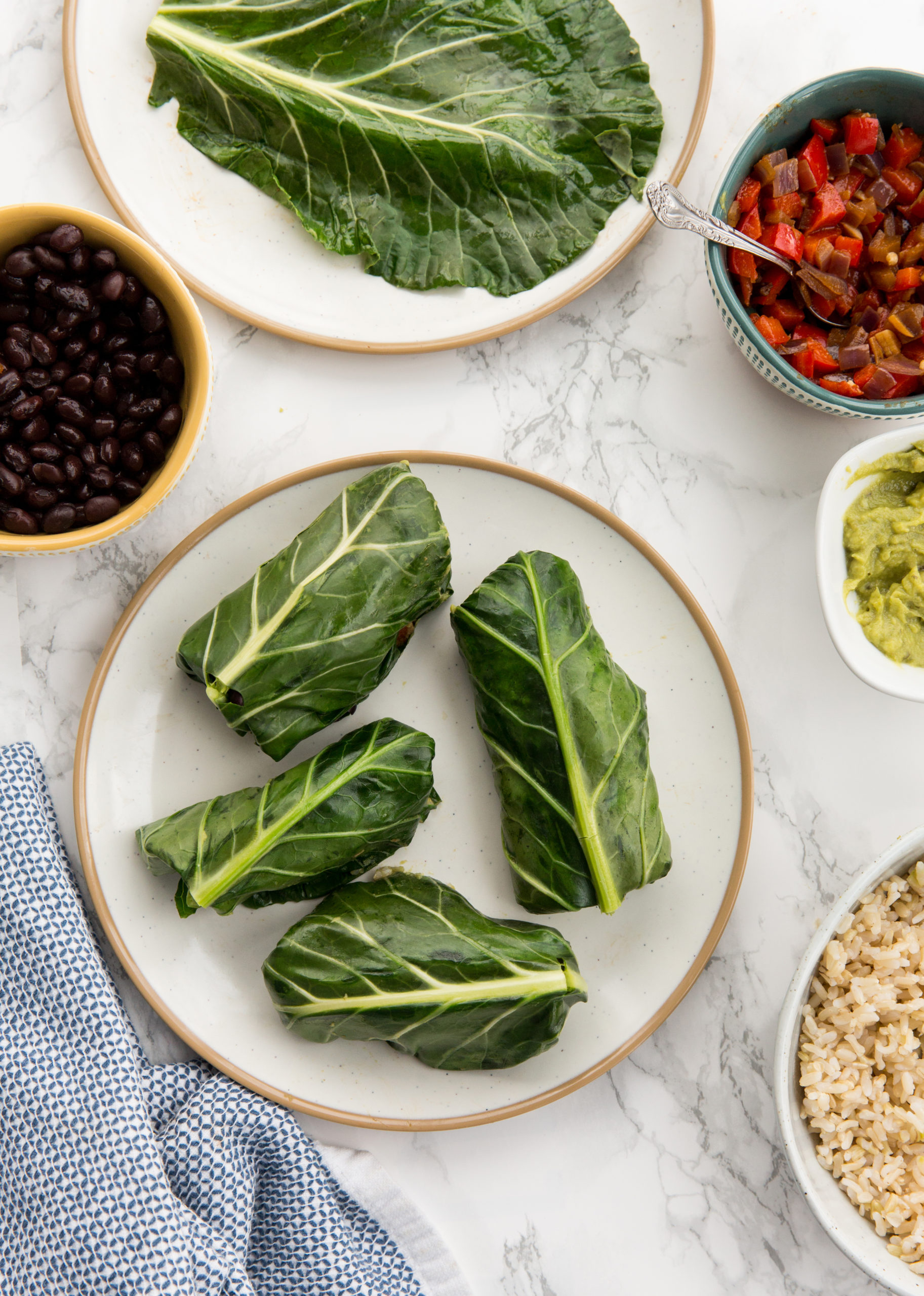 Vegan Collard Green Burritos