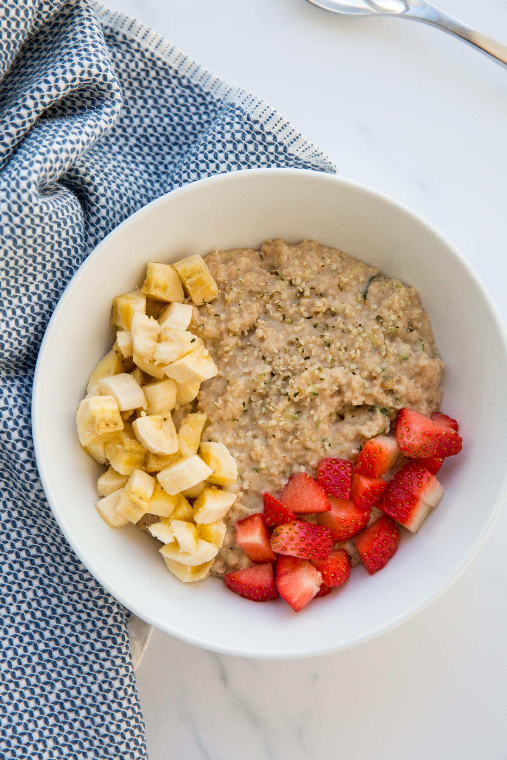 Zucchini Oatmeal Bowl