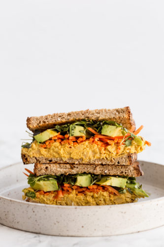 Curried Chickpea Salad Sandwiches with Avocado