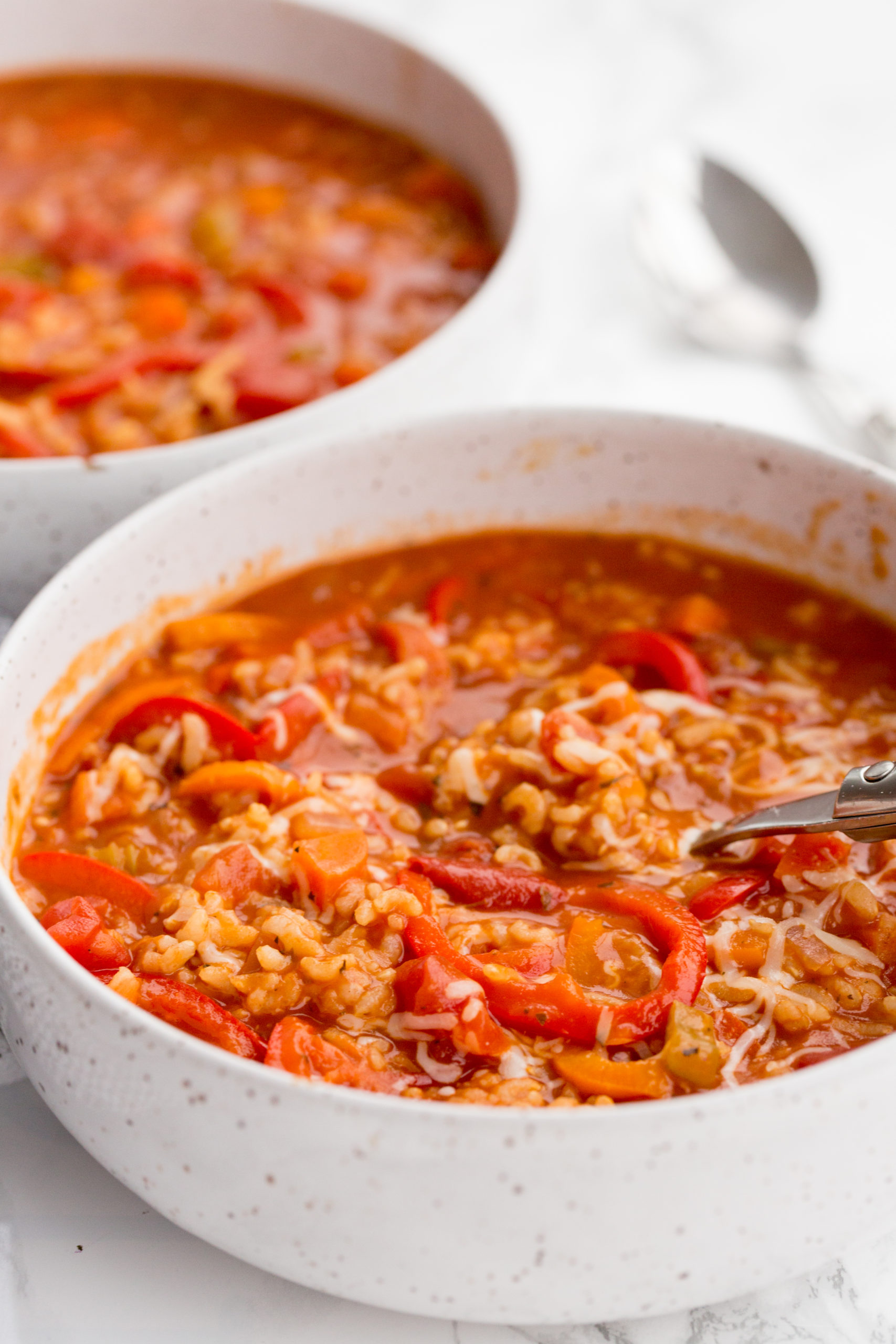 Pressure Cooker Vegetarian Stuffed Pepper Soup