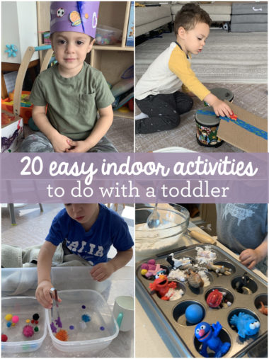 20 Easy Indoor Activities To Do With a Toddler