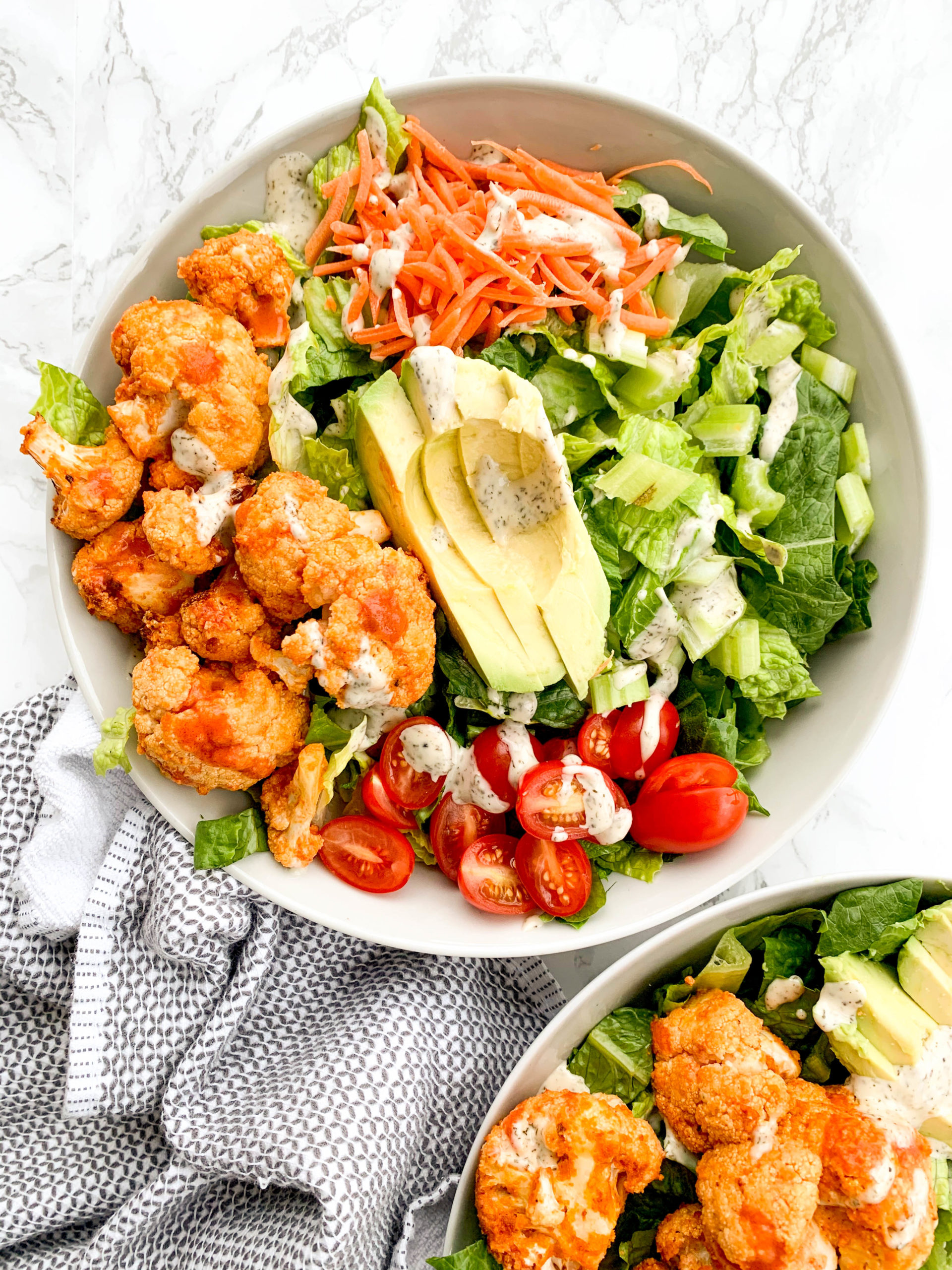 Air Fryer Buffalo Cauliflower Salad