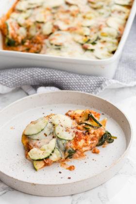 Vegetarian Zucchini and Quinoa Lasagna