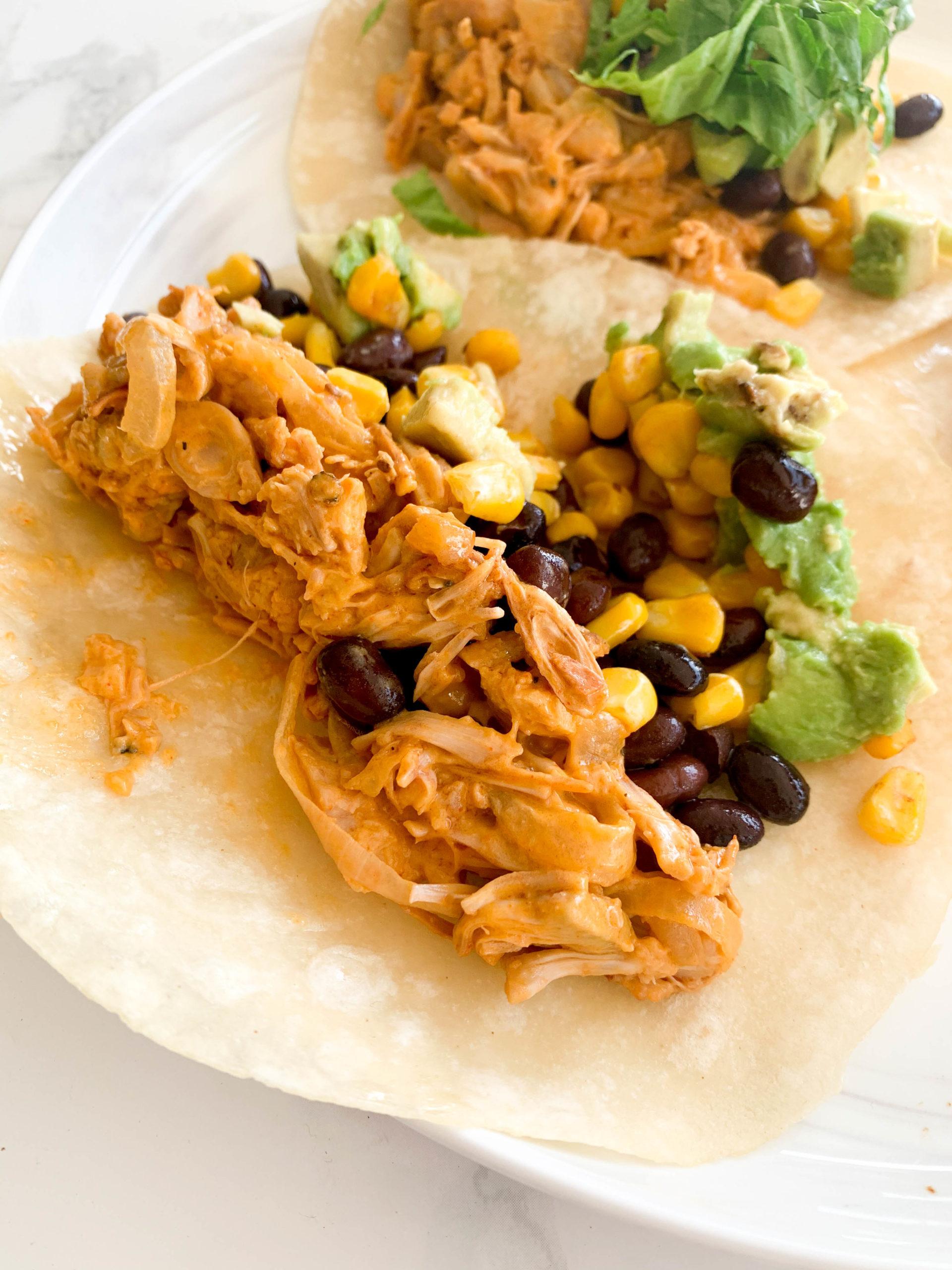 Buffalo Jackfruit Tacos
