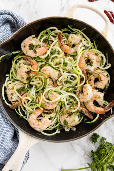 Gambas Al Ajillo with Zoodles