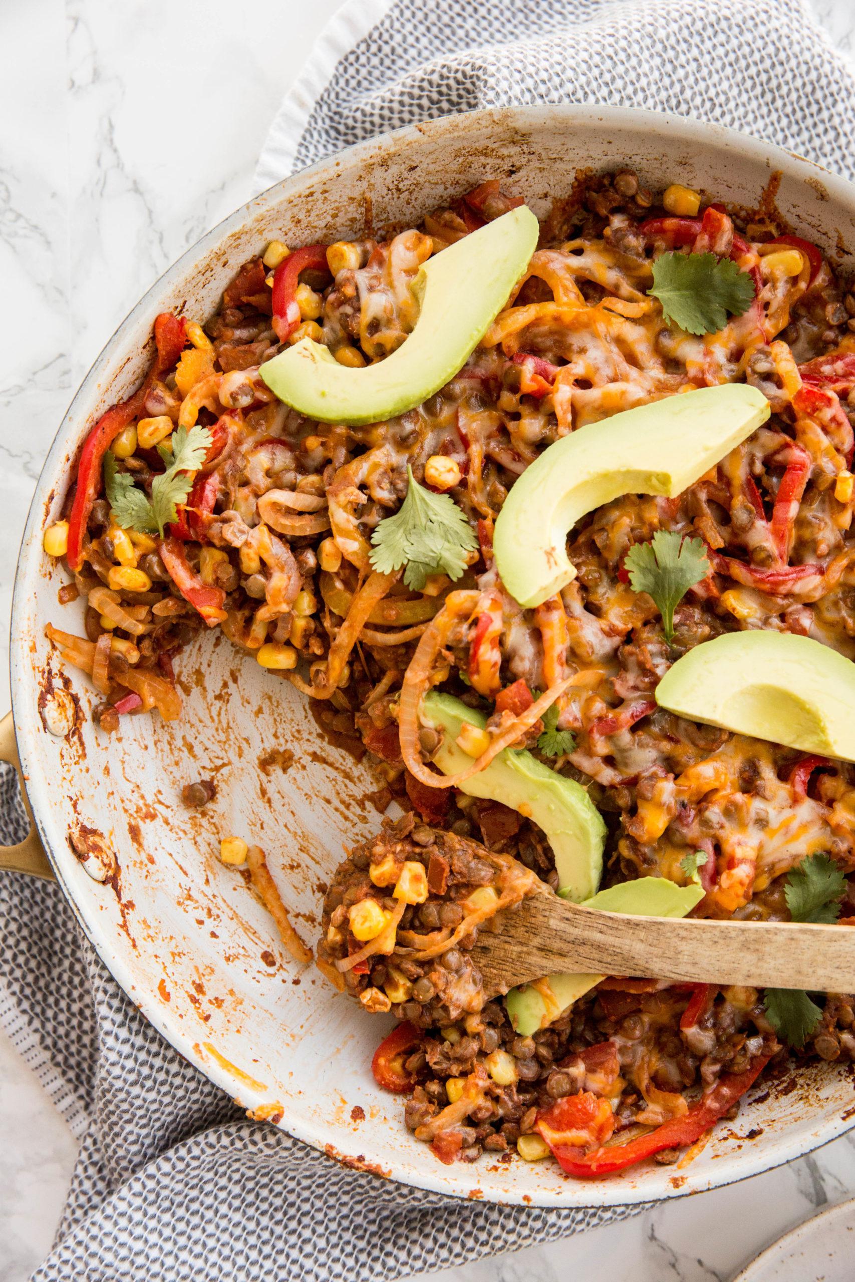Vegetarian Lentil Taco Skillet