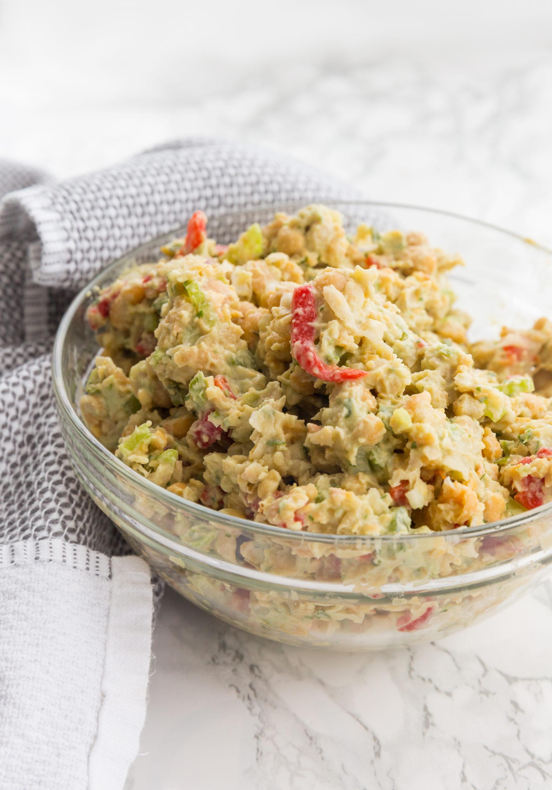 Avocado Green Goddess Chickpea Salad