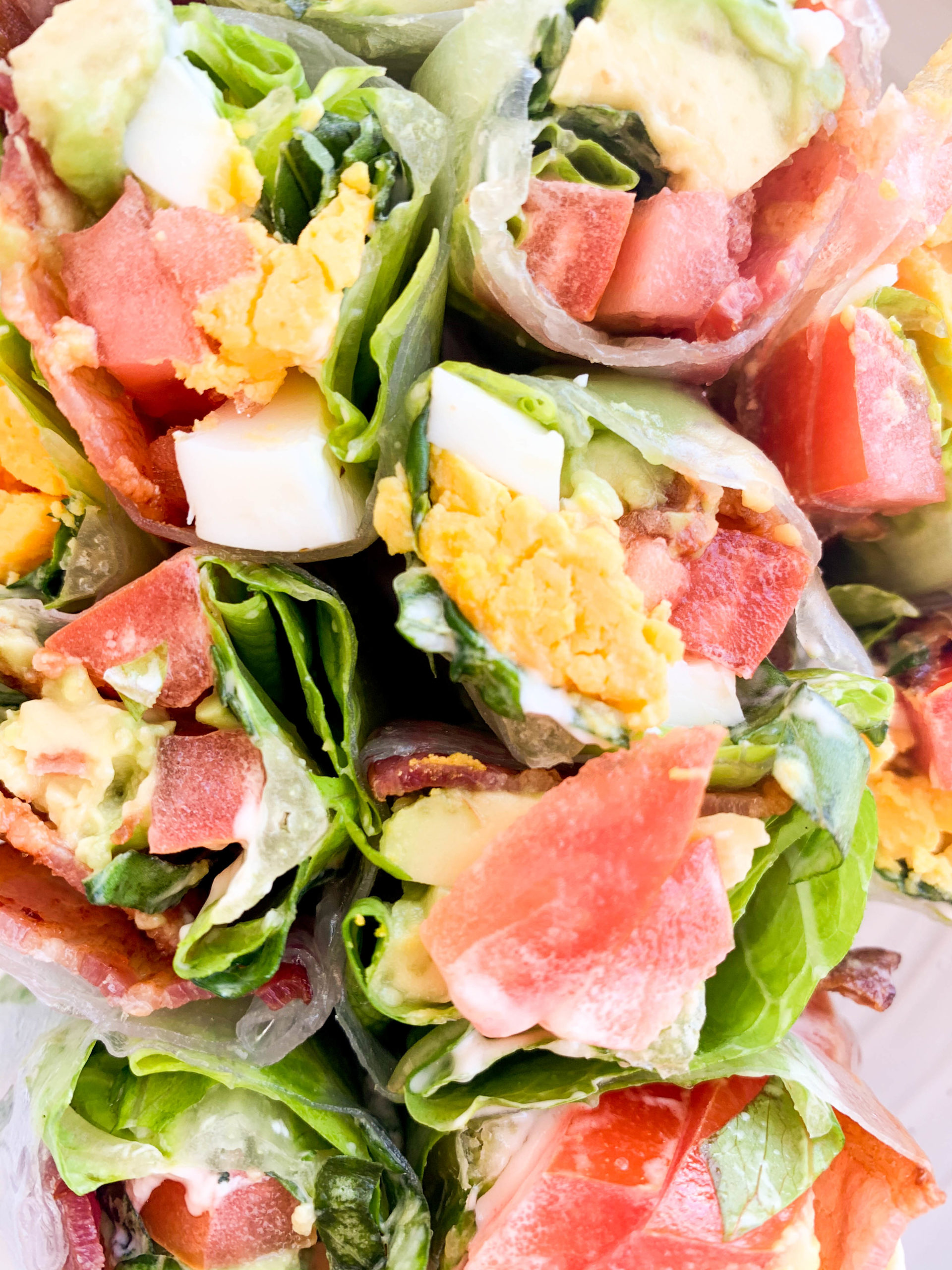 BLT Summer Rolls with Avocado and Egg
