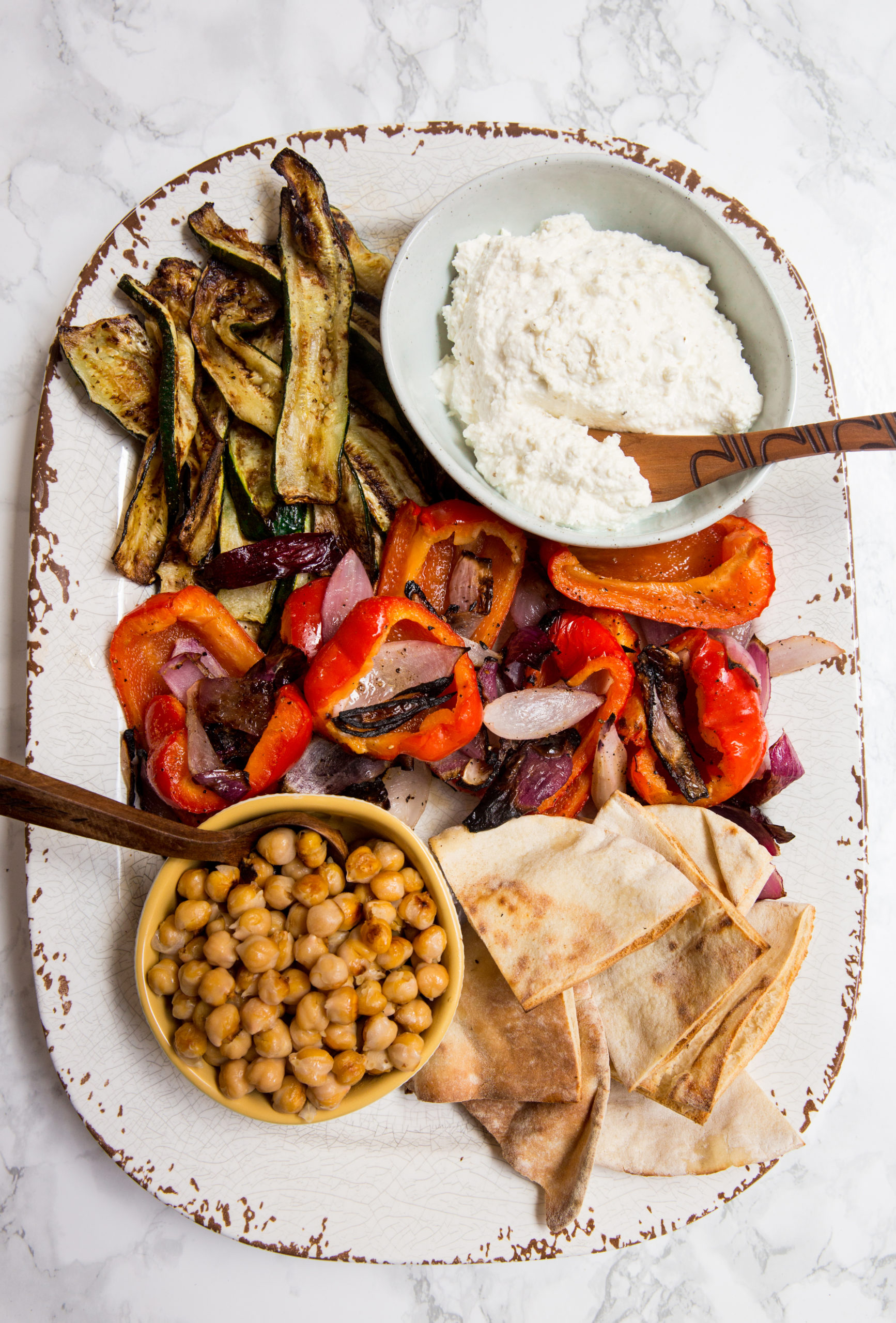 Grilled Vegetable and Chickpea Platter