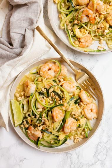 Shrimp Zucchini Noodle Pad Thai