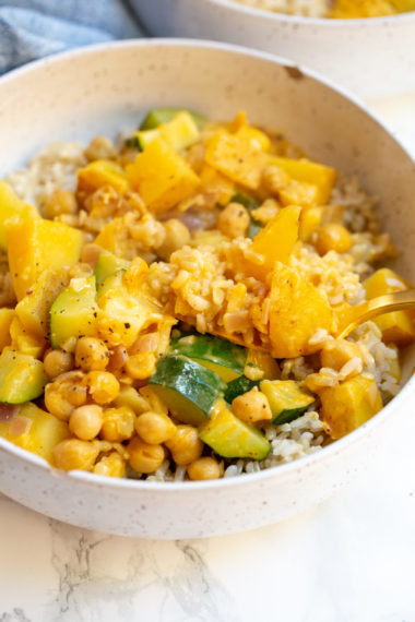 Zucchini and Potato Chickpea Curry