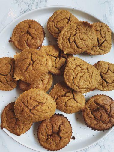 Pumpkin Spice Carrot Blender Muffins