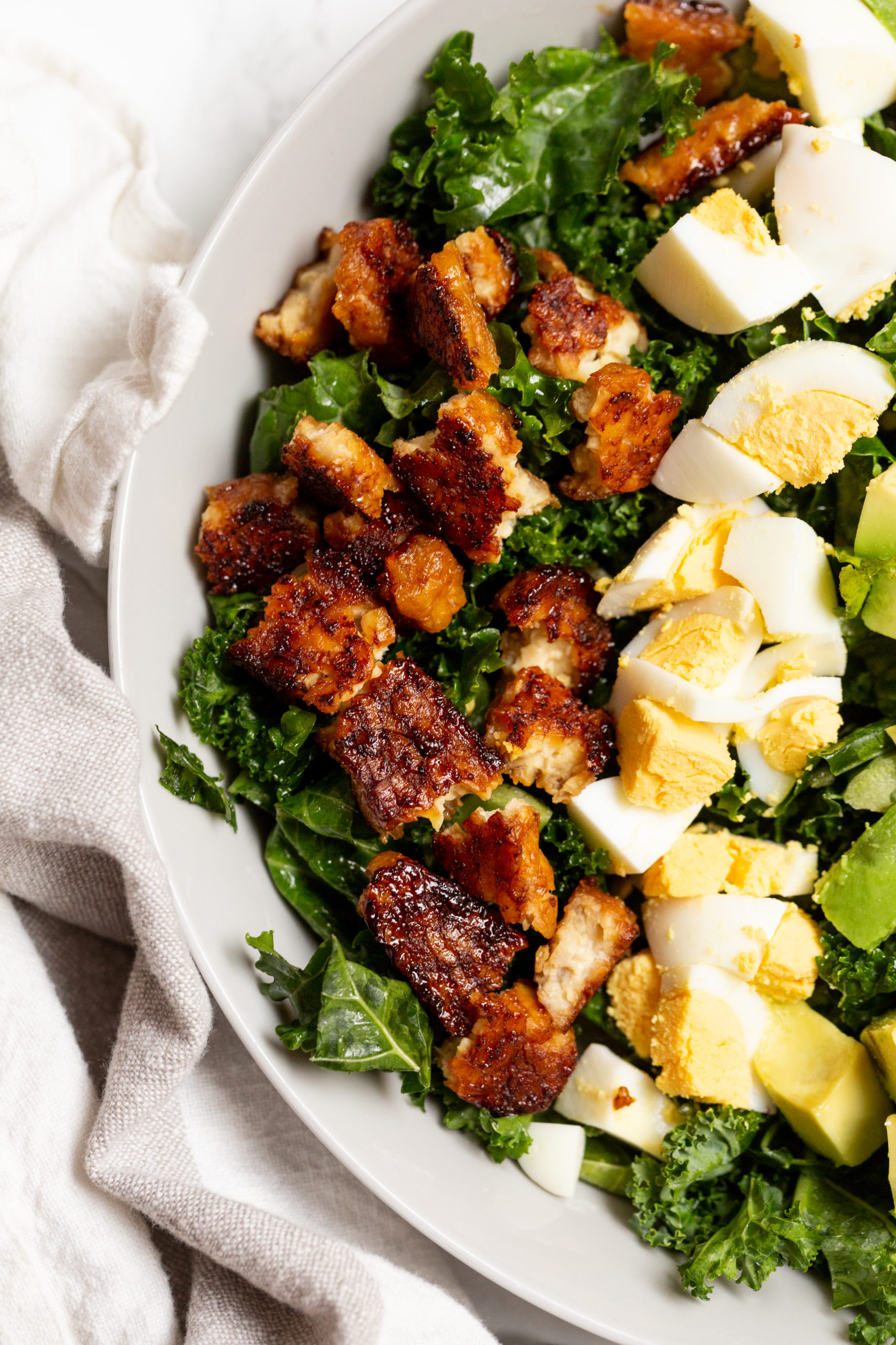 Autumn Cobb Salad with Tempeh Bacon