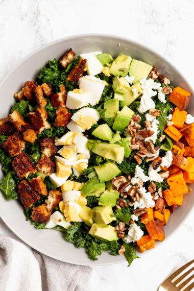 Autumn Kale Cobb Salad with Tempeh Bacon