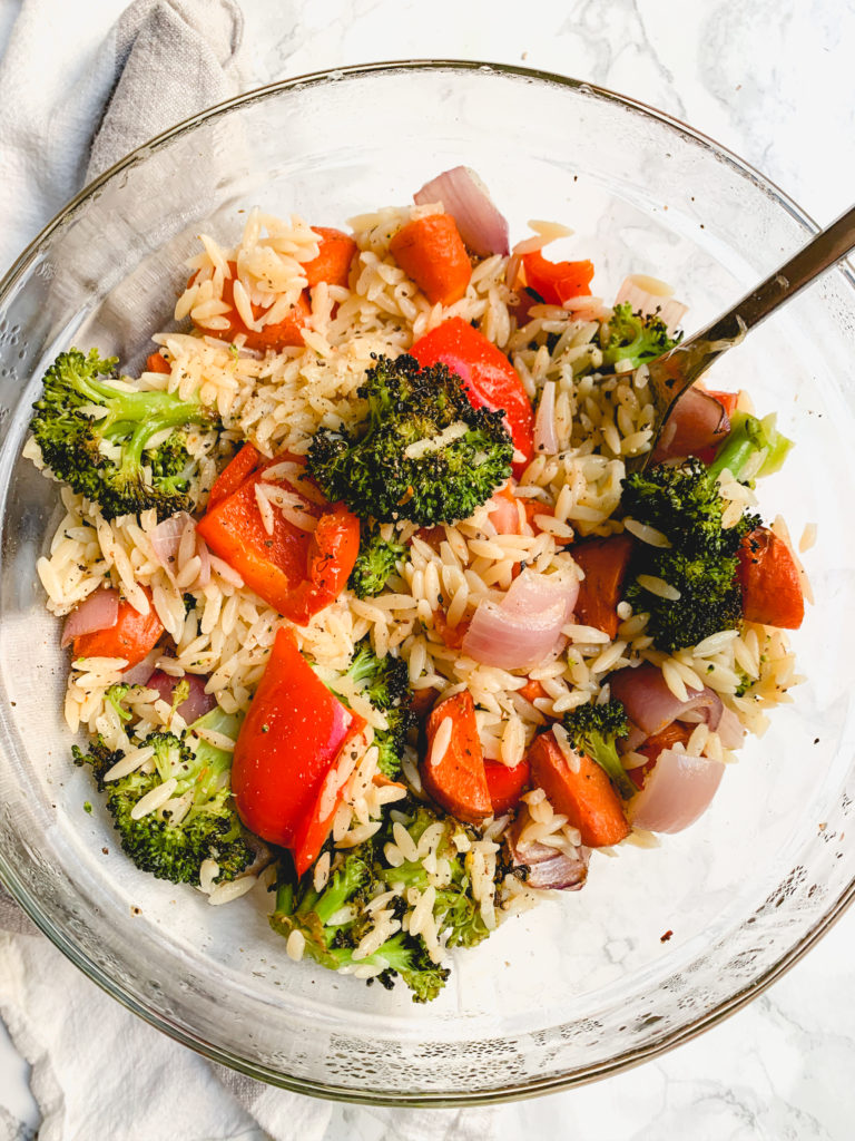 Roasted Vegetables with Orzo