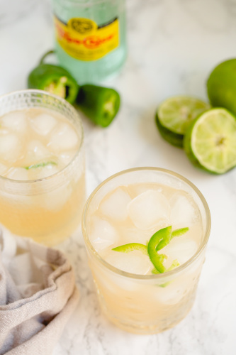 Spicy Grapefruit and Lime Mocktail