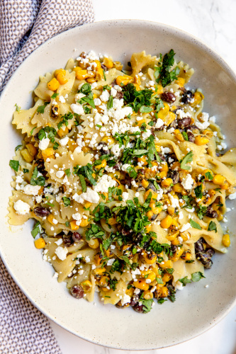 Creamy Mexican Street Corn Pasta Salad