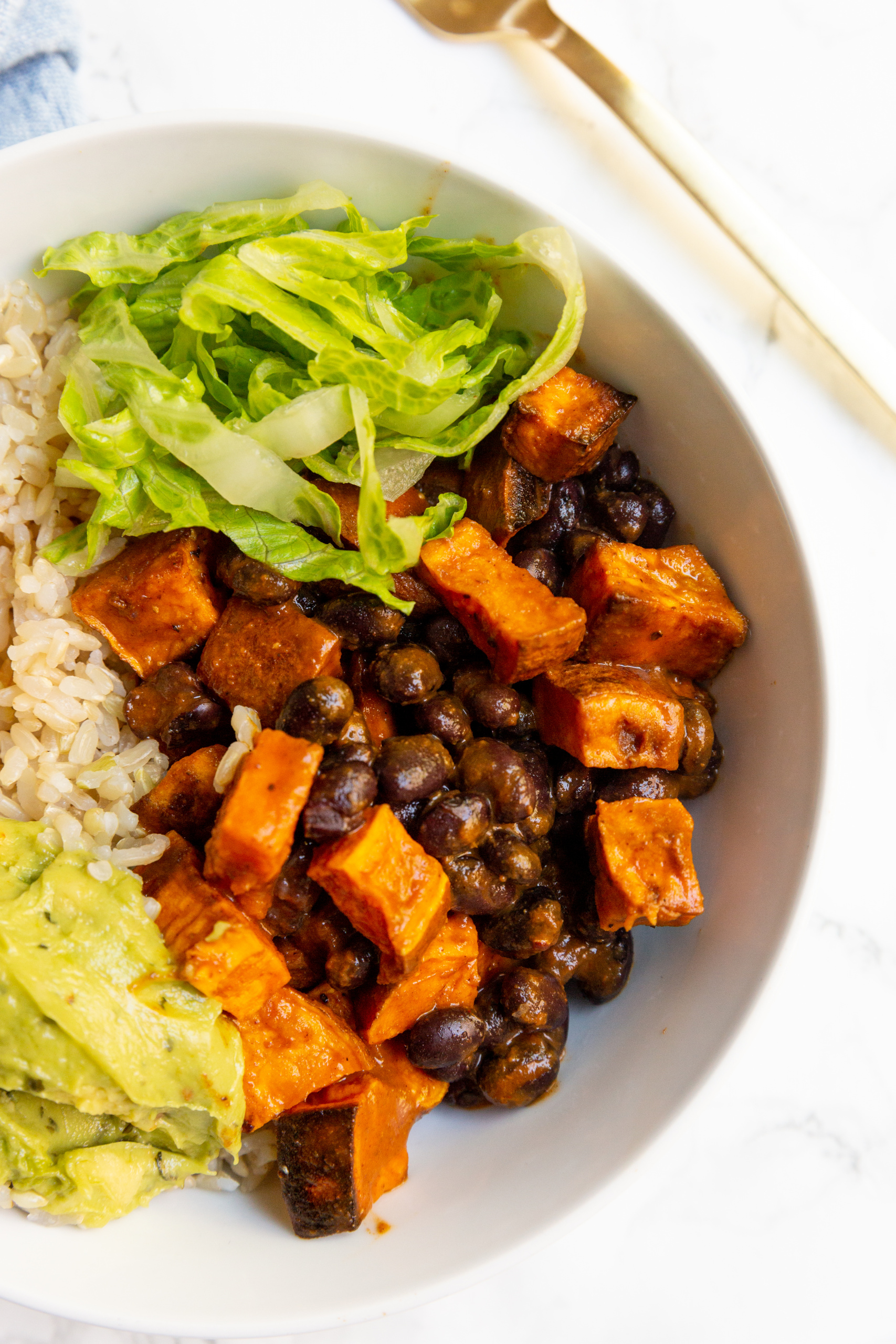 Sweet Potato and Black Bean Enchilada Rice Bowls