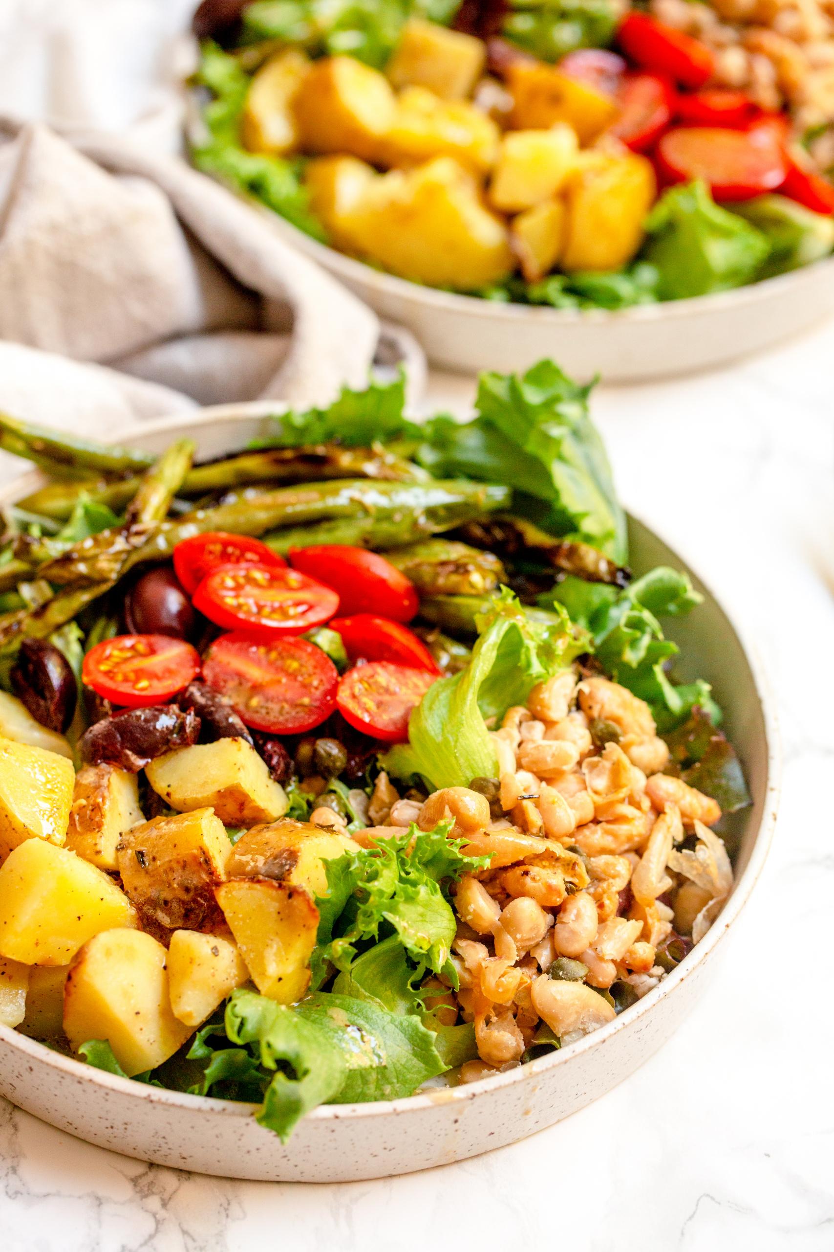 Vegan White Bean Nicoise Salad