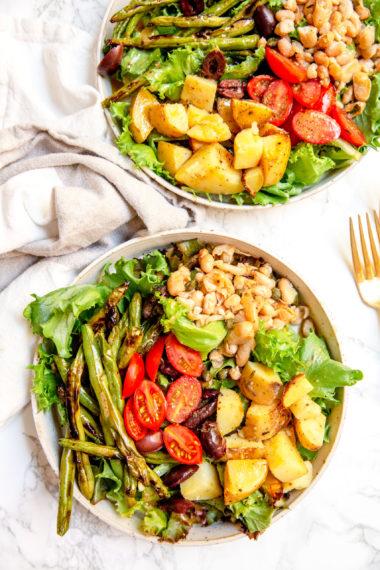 Vegan White Bean Niçoise Salad
